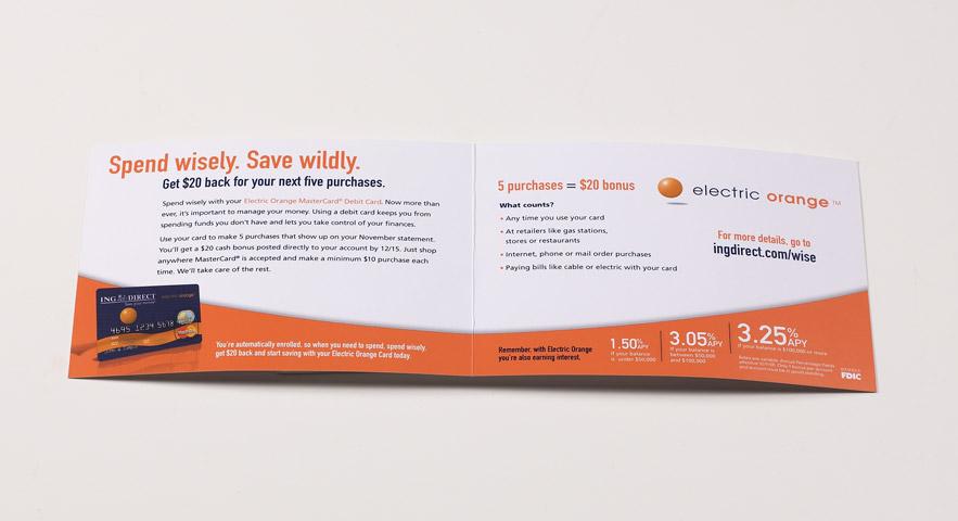 ING Direct Electric Orange Direct Mailer