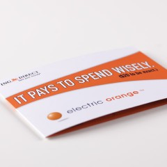 ING Direct Electric Orange Direct Mailer