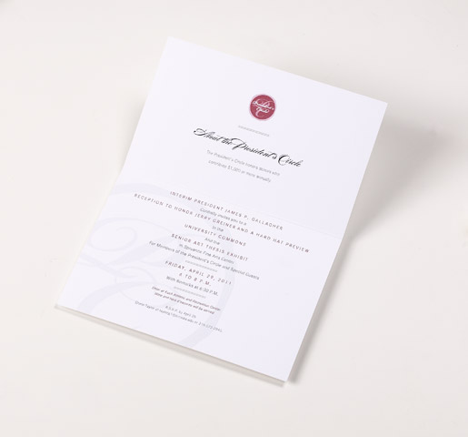 President's Circle Luncheon Invitation